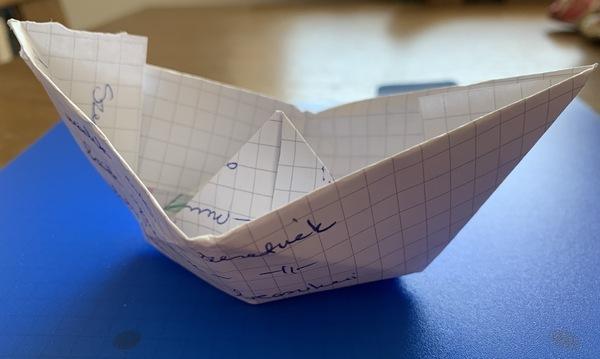 papírhajó - újrapapír